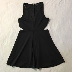Express Dresses - Express Black Cut Out Dress Size 12